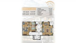 Sea View Apartments Close to the Marina in Istanbul, Property Plans-5