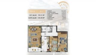 Sea View Apartments Close to the Marina in Istanbul, Property Plans-7