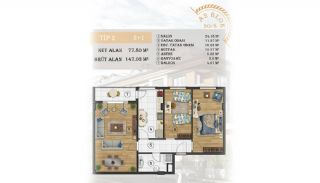 Sea View Apartments Close to the Marina in Istanbul, Property Plans-8