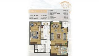 Sea View Apartments Close to the Marina in Istanbul, Property Plans-9