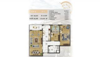 Sea View Apartments Close to the Marina in Istanbul, Property Plans-12