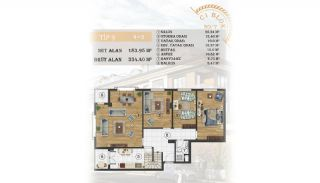 Sea View Apartments Close to the Marina in Istanbul, Property Plans-13