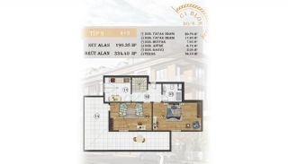 Sea View Apartments Close to the Marina in Istanbul, Property Plans-16