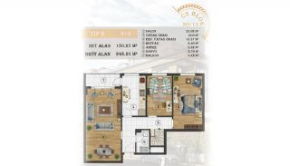 Sea View Apartments Close to the Marina in Istanbul, Property Plans-18
