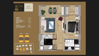 Väl utformade Istanbul-lägenheter 10 minuter till Bosporen, Planritningar-2