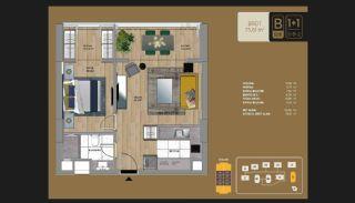 Väl utformade Istanbul-lägenheter 10 minuter till Bosporen, Planritningar-3