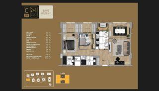 Väl utformade Istanbul-lägenheter 10 minuter till Bosporen, Planritningar-4