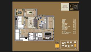 Väl utformade Istanbul-lägenheter 10 minuter till Bosporen, Planritningar-5