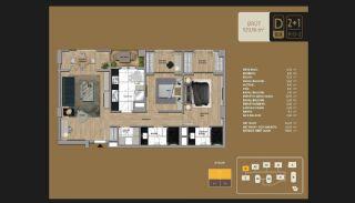 Väl utformade Istanbul-lägenheter 10 minuter till Bosporen, Planritningar-6