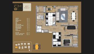 Väl utformade Istanbul-lägenheter 10 minuter till Bosporen, Planritningar-7