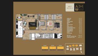 Väl utformade Istanbul-lägenheter 10 minuter till Bosporen, Planritningar-8