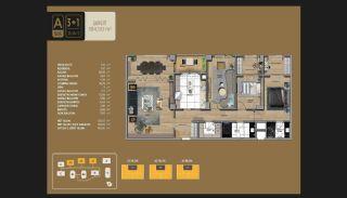 Väl utformade Istanbul-lägenheter 10 minuter till Bosporen, Planritningar-9