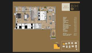 Väl utformade Istanbul-lägenheter 10 minuter till Bosporen, Planritningar-11