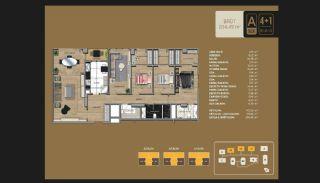 Väl utformade Istanbul-lägenheter 10 minuter till Bosporen, Planritningar-13