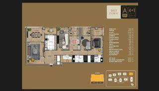 Väl utformade Istanbul-lägenheter 10 minuter till Bosporen, Planritningar-14