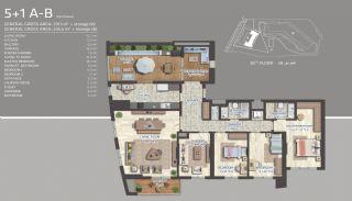 Квартиры с Видом на Море и Острова в Картале, Стамбул, Планировка -7