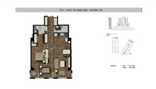 Modern Flats Close to TEM Highway in Istanbul Kagithane, Property Plans-1
