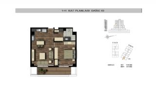 Modern Flats Close to TEM Highway in Istanbul Kagithane, Property Plans-2