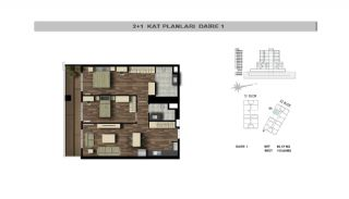 Modern Flats Close to TEM Highway in Istanbul Kagithane, Property Plans-3