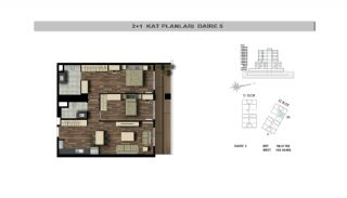 Modern Flats Close to TEM Highway in Istanbul Kagithane, Property Plans-4