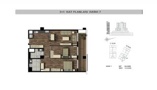 Modern Flats Close to TEM Highway in Istanbul Kagithane, Property Plans-5
