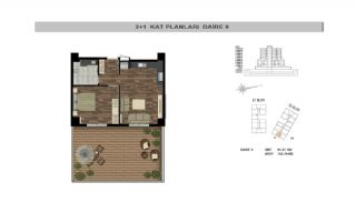 Modern Flats Close to TEM Highway in Istanbul Kagithane, Property Plans-6