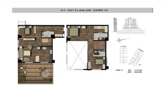 Modern Flats Close to TEM Highway in Istanbul Kagithane, Property Plans-7
