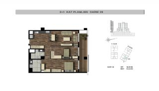 Modern Flats Close to TEM Highway in Istanbul Kagithane, Property Plans-8