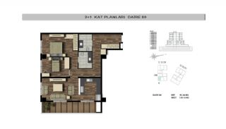 Modern Flats Close to TEM Highway in Istanbul Kagithane, Property Plans-10