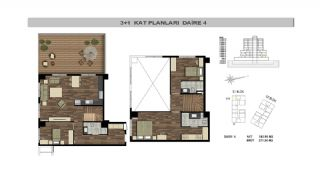 Modern Flats Close to TEM Highway in Istanbul Kagithane, Property Plans-11