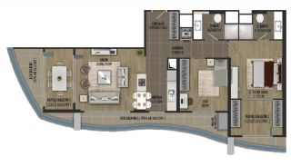 Luxury Sea and Island Views Apartments in Istanbul Kartal, Property Plans-2