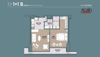 Key Ready Flats with Quality Design in Bagcilar Istanbul, Property Plans-2