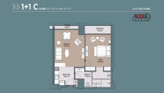 Key Ready Flats with Quality Design in Bagcilar Istanbul, Property Plans-3