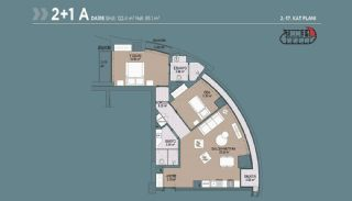 Key Ready Flats with Quality Design in Bagcilar Istanbul, Property Plans-4