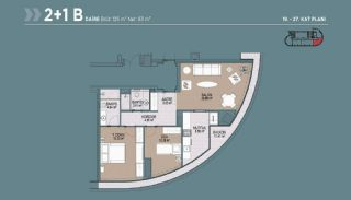 Key Ready Flats with Quality Design in Bagcilar Istanbul, Property Plans-5