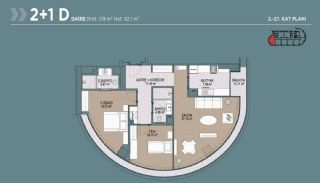 Key Ready Flats with Quality Design in Bagcilar Istanbul, Property Plans-7