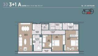 Key Ready Flats with Quality Design in Bagcilar Istanbul, Property Plans-8