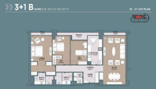 Key Ready Flats with Quality Design in Bagcilar Istanbul, Property Plans-9