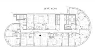 Key Ready Flats with Quality Design in Bagcilar Istanbul, Property Plans-11