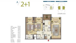 Apartments with Modern and Quality Design in Istanbul, Property Plans-3