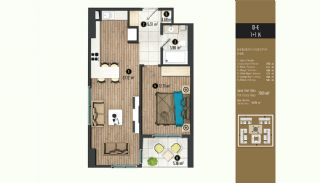 Luxurious Flats with Rich Facilities in Beylıkduzu Istanbul, Property Plans-3