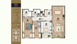 Luxurious Flats with Rich Facilities in Beylıkduzu Istanbul, Property Plans-13