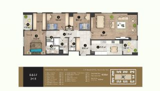 Luxurious Flats with Rich Facilities in Beylıkduzu Istanbul, Property Plans-14