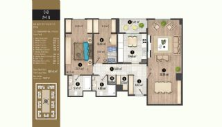 Luxurious Flats with Rich Facilities in Beylıkduzu Istanbul, Property Plans-18