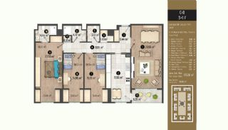 Luxurious Flats with Rich Facilities in Beylıkduzu Istanbul, Property Plans-19