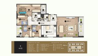 Luxurious Flats with Rich Facilities in Beylıkduzu Istanbul, Property Plans-20