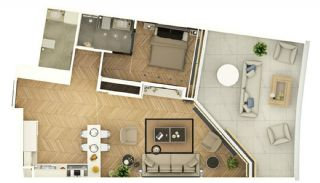 Stylishly Designed Apartments in Bahçelievler Istanbul, Property Plans-2