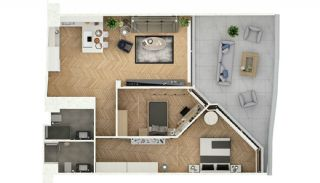 Stylishly Designed Apartments in Bahçelievler Istanbul, Property Plans-3