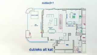 Квартиры в Картале в Стамбуле с Видом на Море и Острова, Планировка -1