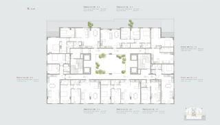 Residentie-concept Appartementen in Sarıyer Istanbul, Vloer Plannen-1